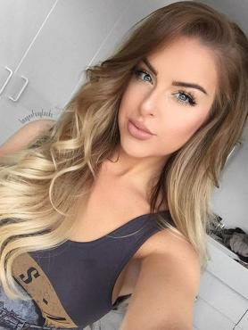 Neue Ankunft Blond Ombre Lace Front Echthaar Perücke HH080