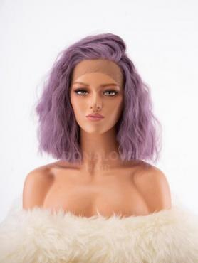 Lavender Lockige Synthetische Lace Front Perücke SNY243