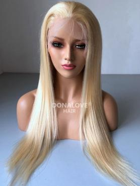 Blonde Lange Glatte Synthetische Lace Front Perücke SNY226